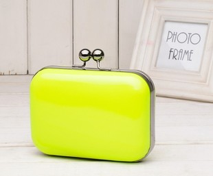 Hot sale Free shipping! 2013 candy color neon color evening bag vintage bag chain bag women's cross-body bags(China (Mainland))