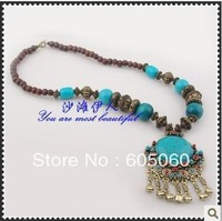 Free shipping fashion Bohemian amorous feelings of national handmade retro necklace jingle necklace