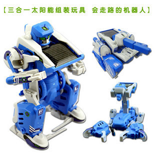 Wholesale 6pcs/lot,novelty toy,3 in 1 Solar Robot DIY assembling toys,free shipping