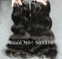 queen products WQ1305357 natural wave hair 4 pcs peruvian virgin hair weave