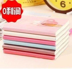 Stationery tsmip series milk tea time portable notebook sleeve diary cartoon the sleeve(China (Mainland))