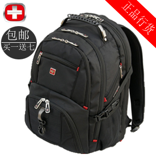 Swiss army knife laptop bag 14 15.6 laptop bag backpack travel backpack male business bag(China (Mainland))