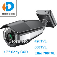 NEW 1/3 Sony CCD Effio 700TVL HD Security CCTV video Camera outdoor 4-9mm lens 42pcs IR LED 40M 540TVL,600TVL Optional Free ship