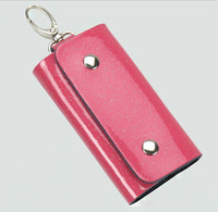 Free shipping Wholesale car Key ring Wallets Bag Men Women key chain house keys holder Leather 5 color