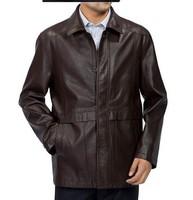 2013 NEW Men's leather jacket fashion Classic Goatskin slim Motorcycle  coat free shopping M-3XL