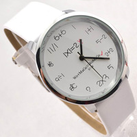 Needle casual big dial fashion non-mainstream lady brief watch