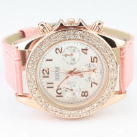 2012 all-match fashion rhinestone watches watch women's fashion ladies watch strap watch