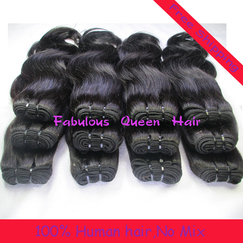 Queen Products 4pcs Brazilian Body Wave Fashion Stema Virgin Natural Black Hair Extensions 12''-28'' Weave Online Free Shipping(China (Mainland))