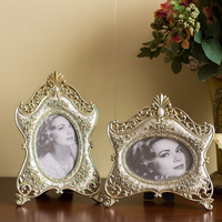 Free shipping EFashion vintage  combination of classical rose relievo resin photo frame picture frame  home accessories wedding