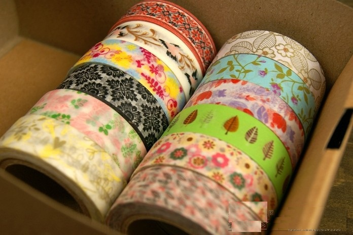 High quality spring flower and leaf series washi masking tape.adhesive tape.washi tape.DIY Multifunction.JAPAN STYTLE.(China (Mainland))