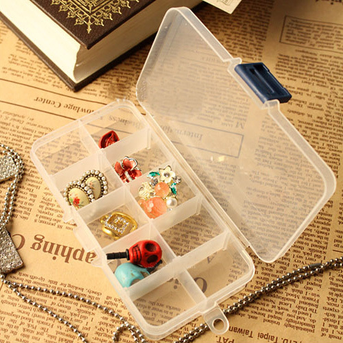 The disassemblability 68 transparent rectangle jewelry box kit storage box jewelry box accessories cosmetic box(China (Mainland))