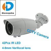 CCTV Camera Color Sony 420TVL 600TVL Effio 700tvl optional 4-9mm lens IR 40M home security cam high quality-White Free shipping