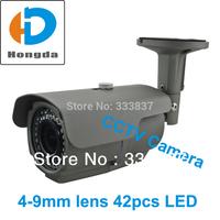 "1/3"" Sony CCD effio 700tvl Surveillance Security cameras 600tvl 540tvl optional 4-9mm lens 42pcs IR led 40M-Grey  Free shipping"