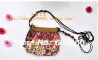 Free shipping2013 fashion hand-made Bohemia candy women's handbag vintage straw bag messenger bag