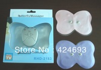 Butterfly Design Massager Body Arm Leg Muscle Massager  Mini Electronic  Losing Weight Slimming 10pcs/lot