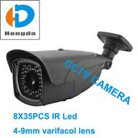 "Free shipping 1/3"" Sony CCD effio 700tvl Surveillance Security cameras 650tvl 420tvl optional 4-9mm lens 35pcs IR led 50M-Grey"
