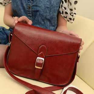 2013 vintage fashion small bags preppy style Korean female bag shoulder diagonal packet burgundy British retro messenger bags