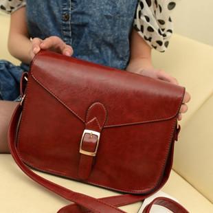 2013 vintage fashion small bags preppy style Korean female bag shoulder diagonal packet burgundy British retro messenger bags