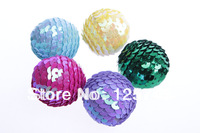 Free Shipping.50pcs Mixed Colors 25mm Sequins Ball For Christmas Decoration