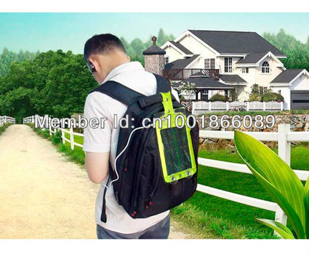 For camping travel festivals Outdoor Exercises mobile phone Solar Panel Power USB Battery Charger backpacks tents free shipping(China (Mainland))