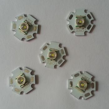 5pcs/lots Cree XR-E Q5 3.7W 240lm 6500K White Light LED Emitter - White (20mm / DC 3.6~4.2V) T1000