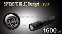 SKY-EYE CREE XML U2  5-Mode 1600 Lumen 18650 LED Flashlight Torch F17