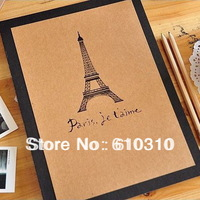 free shipping 11 inch Eiffel Tower Paris DIY PHOTO ALBUM Scrapbook Paper Crafts for baby wedding picture photograph holder