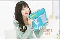 Free shipping multi-functional  PU  storage bag for Apple ipad size 33*25cm blue green pink bag 5pcs/L