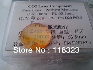 UPS Free Delivery Top Quality CO2 Laser Focus Lens, ZnSe Lens, Laser Machine Accessory, Focal 63.5(China (Mainland))