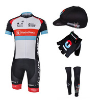 2013 RADIOSHACK Cycling Jersey+bib Shorts+gloves+cap+leg warmers