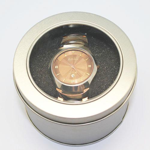 Window Circle Tin Watch Packaging Box Wholesale 25pcs/lot(China (Mainland))