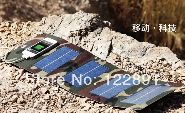 Wholesale!Portable Solar Charger+8w Solar Panel+Outdoor Sport Power Supply+USB Output+Foldable 2pcs/lot Free Shipping(China (Mainland))