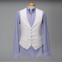 Male slim vest white vest suit vest slim male