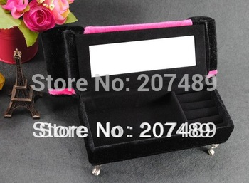drop shipping mini furniture sofa pillow velvet jewellery box case organizer storage display for earring ring necklace for gift