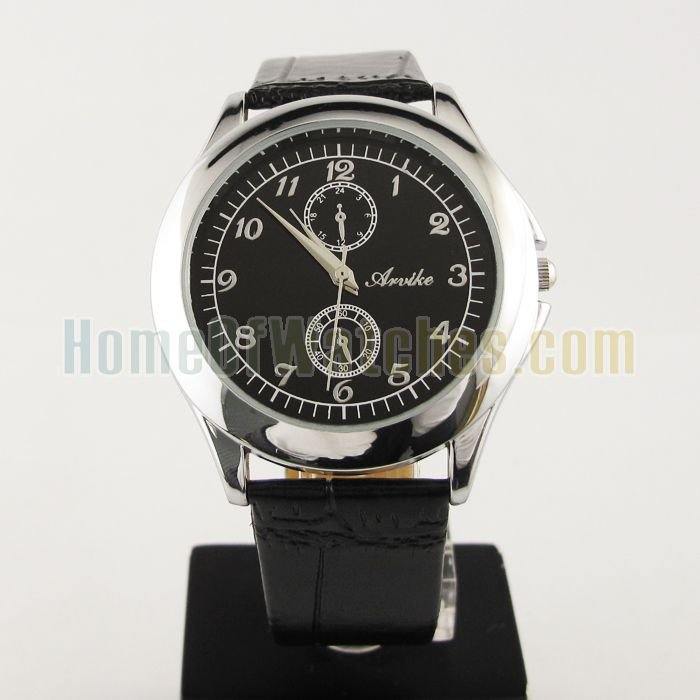 Fashion Black Mens S/Steel Face Quartz Strap Watch NEW *Best Gift & Retail Goods*(NBW0FA6135-BL1) 8(China (Mainland))
