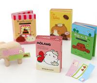 Free Shipping Kawaii Molang Rabbit Memo Notepad,Note Book&Memo Pad,Sticky Notes Memo Set,Gift Stationery Wholesale