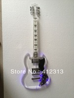 Free shipping SG guitar  acrylic guitar with led light   electric guitar  stratcoster guitar with good quality