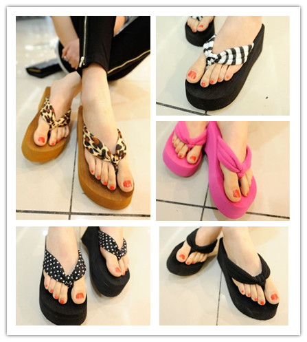 Women's 2013 summer plus size female flip flops platform sandals beach slippers(China (Mainland))