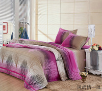 Free shipipng new arrival Diamond velvet reactive print stripe sanded four piece sets bedding