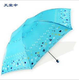 2013 New Hottest 3327e girl folding umbrellas sunscreen heart pearl glue pencil umbrella(China (Mainland))