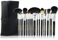 New arrival Makeup Case Professional Makeup Brush 20 Animal Wool Cosmetic Brush Set Black Leather Bag