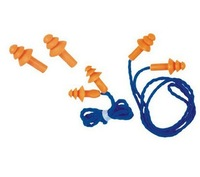 3 m spiral belt line Shape Safety Silicone Soft Ear Plugs Hearing Protection Muffs With Cord Washable recycling