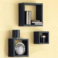 Square set right angle piece set plaid shelf wall shelf wall decoration shelves