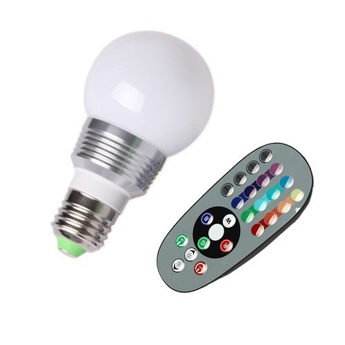 1 set AC 85-265V RGB LED Lamp 3W E27 led 16 Color Bulb Lamp with Remote Control led lighting multiple colour free shipping(China (Mainland))