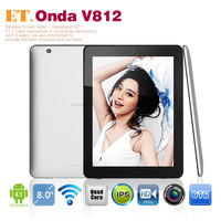"8"" Quad Core Allwinner A31 2GB 16GB camera 5.0MP IPS 1024x768 pixel android 4.1 onda v812 tablet pc"