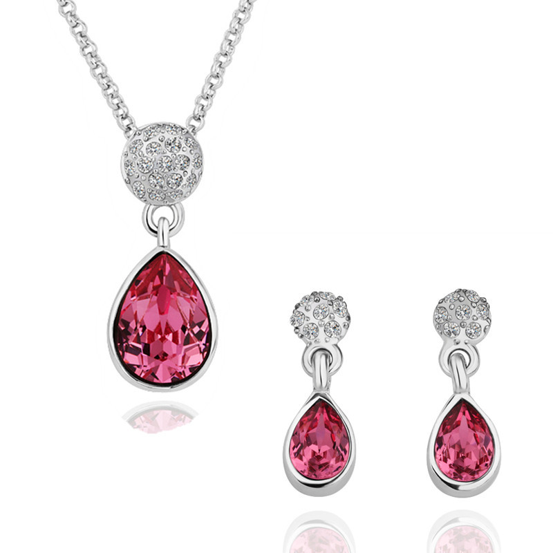 Trendy 2013 synthetic gemstones KM18KRGPS124 Jewelry Set(China (Mainland))