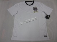 NEW SEASON!!!England Home White Soccer Jersey 13/14,Player Version Thailand Quality England Soccer Shirt+free Shipping