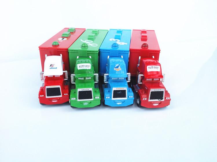 HOT ! 2013 THE NEWEST ! freeshipping !!This set= 4 trucks. Pixar Cars 2 MACK TRUCK alloy diecast(China (Mainland))