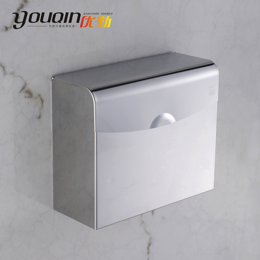 Bathroom high quality stainless steel toilet paper box paper towel holder grass tray waterproof 8841(China (Mainland))