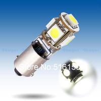2pcs  BA9S 5 SMD Pure White CANBUS Error Free Interior Car T4W H6W 5 LED Light Bulb Lamp